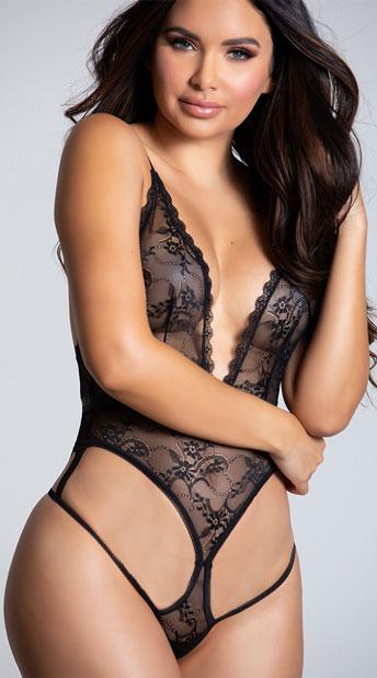 Σέξι εσώρουχα Μαυρο κορμακι απο δαντελα