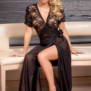 ΜΑΚΡΥ ΝΥΧΤΙΚΟ ΦΌΡΕΜΑ ΑΠΟ ΤΟΥΛΙ ΚΑΙ ΔΕΝΤΕΛΑ. Ιδιαίτερα εντυπωσιακό νυχτικό φόρεμα.